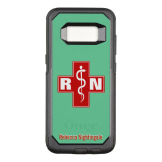Nurse Cross Initials Name Template OtterBox Commuter Samsung Galaxy S8 Case