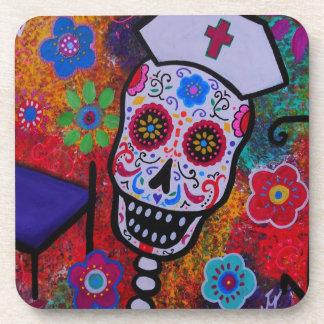 Nurse Day of the Dead Coasters