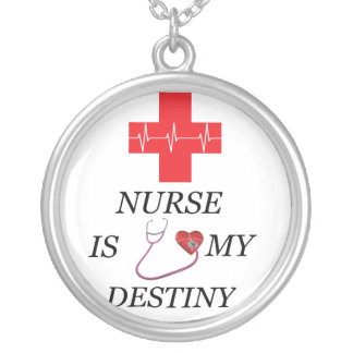 Nurse Destiny Silver Plated Necklace