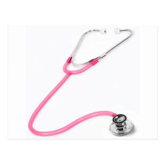 Nurse Doctor Pink Stethoscope EMT Postcard