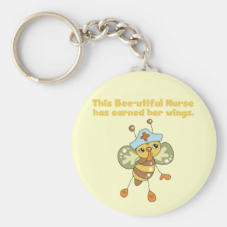 Nurse Earned Her Wings T-shirts and Gifts Keychain
