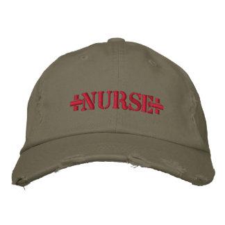 +NURSE+ EMBROIDERED HAT