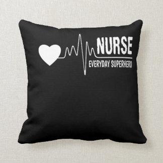 Nurse Everyday Superhero Nurse Pride Shirt Throw Pillow