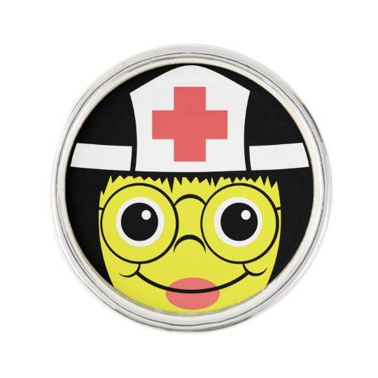 Nurse Face Lapel Pin