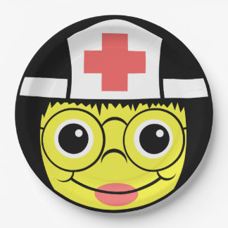 Nurse  Face Paper Plate