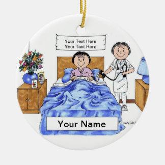 Nurse - Female, Adult Female Patient Ceramic Ornament