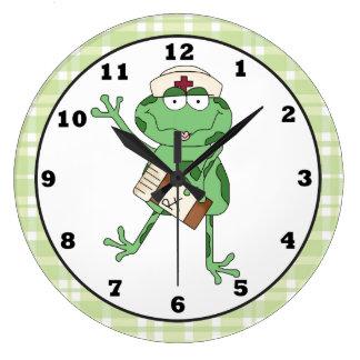 Nurse Frog wall clock