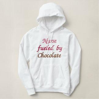 Nurse Fueled By Chocolate Hoodie