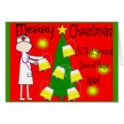 Nurse Funny and Twisted Christmas Humour Card