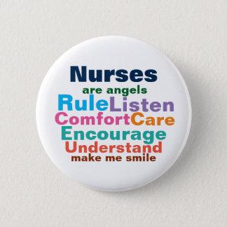 Nurse gift buttons. 2 inch round button