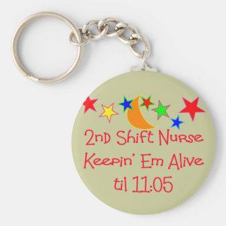 "Nurse Gifts ""2nd Shift Nurse""  Hilarious Keychain"