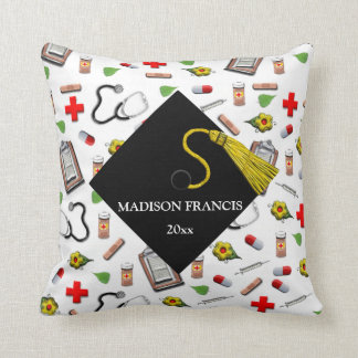 Nurse Grad Throw Pillow