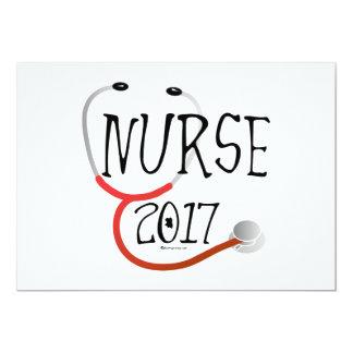 Nurse Graduate 2017 Graduation Invitation