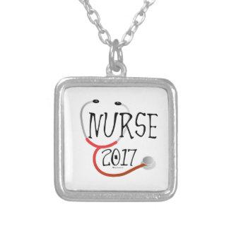 Nurse Graduate 2017 Silver Plated Necklace