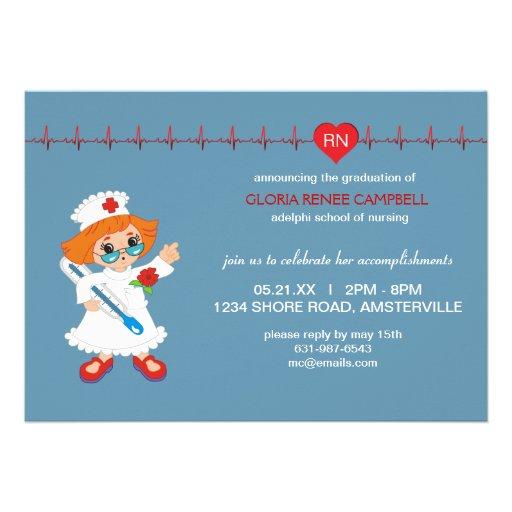 Nursing Graduation Invitation with nice invitation layout
