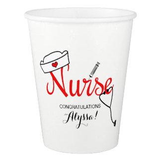 Nurse Graduation party cups, fun typography design Paper Cup