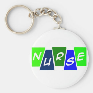 Nurse - Green Blue Keychain