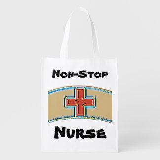 Nurse grocery bag tote