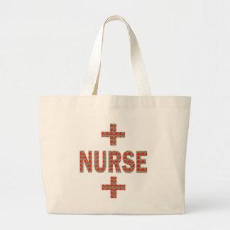 NURSE : HealthCare Hospital Medicine Charity GIFTS Jumbo Tote Bag