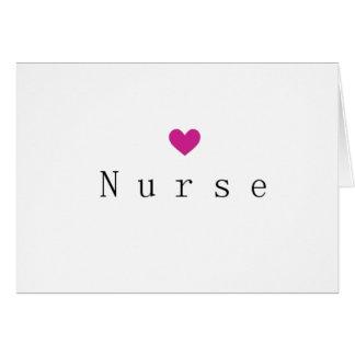 Nurse Heart Notecard