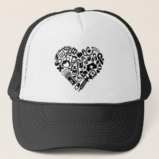 Nurse HEART Trucker Hat