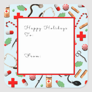 nurse holiday gift ideas square sticker
