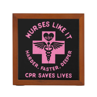 Nurse Humor - CPR  Save Lives - Funny Novelty Desk Organizer