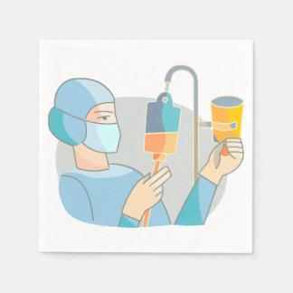 Nurse In Scrubs Paper Napkins