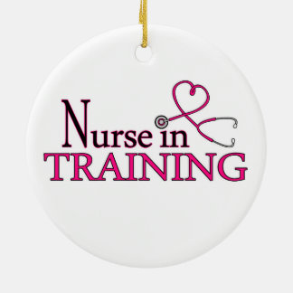 Nurse in Training - Pink Ceramic Ornament