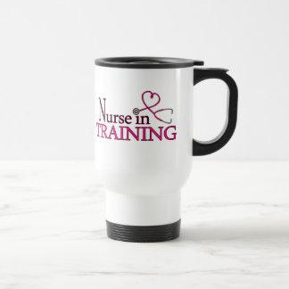 Nurse in Training - Pink Stainless Steel Travel Mug