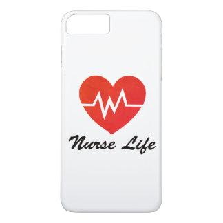 Nurse Life - Grungy EKG Heart Phone Case