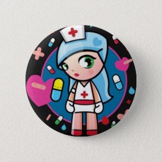 Nurse Lolita 2 Inch Round Button