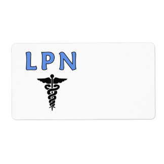 Nurse LPN Caduceus Shipping Label