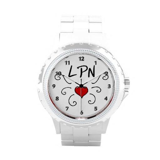 Nurse LPN Love Tattoo Wristwatch