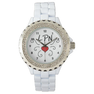 Nurse LPN Love Tattoo Watch