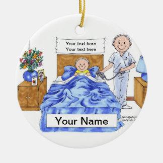 Nurse - Male Ceramic Ornament