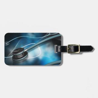 Nurse Medical Stethoscope Luggage Tag