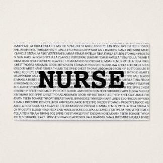 Nurse Medical Words Business Card