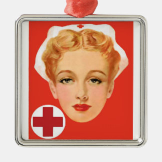 Nurse Metal Ornament
