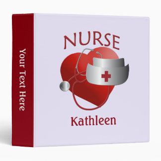 Nurse Name Nurses Heart Custom Binder
