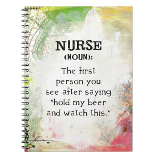 Nurse (noun) spiral notebook