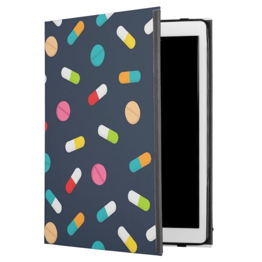 Nurse occupation pill pattern tiled iPad Pro case