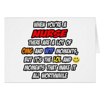 Nurse .. OMG WTF LOL Card