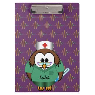 nurse owl clipboard