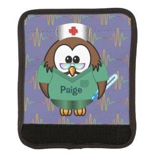 nurse owl luggage handle wrap