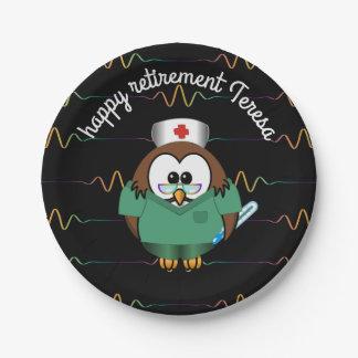 nurse owl - paper plates