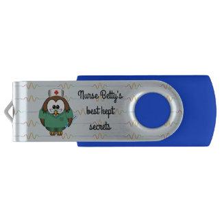 nurse owl - USB flashdrive USB Flash Drive