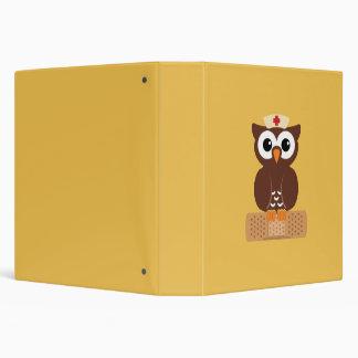 Nurse Owl (w/bandaid) 3 Ring Binder
