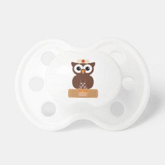 Nurse Owl (w/bandaid) Baby Pacifier