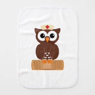 Nurse Owl (w/bandaid) Burp Cloth
